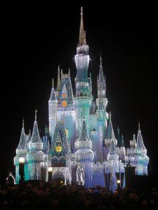 Magic Kingdom Castle at Christmas