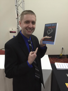 Justin Miller Holding a Book