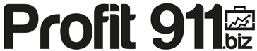 Profit 911 Logo in Black and White